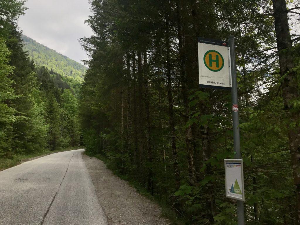 Tiefenbachklamm Anfahrt mit dem Bus