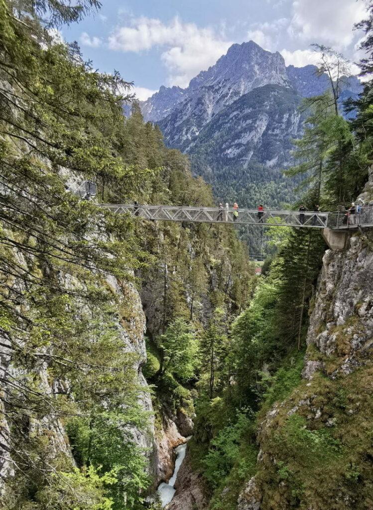 Die Leutaschklamm verbindet Bayern und Tirol